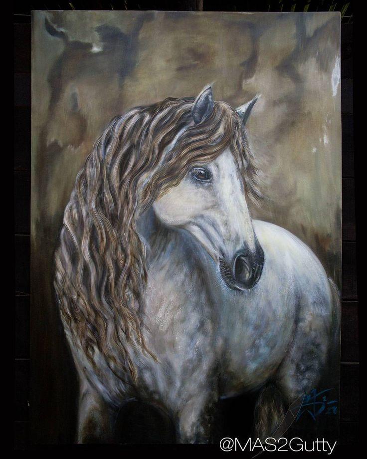 Luna  Óleo/lienzo Oil/Canvas  140 cms / 100 cms  #caballo #cavalier…