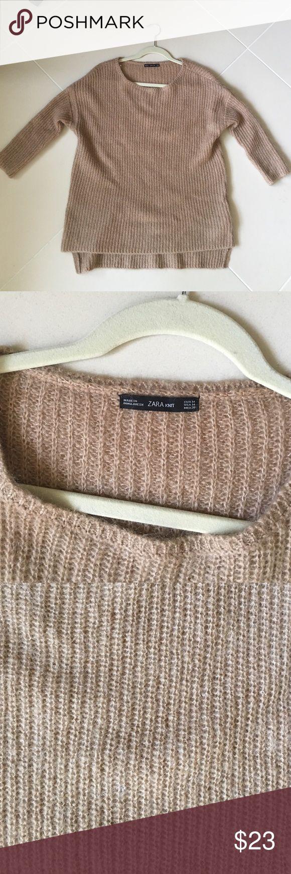 Zara Camel jumper sweater Camel knitwear from zara knit collection Zara Sweaters