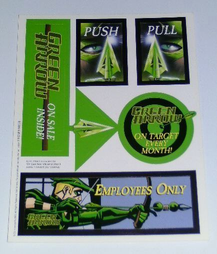 Dc comics green arrow promotional stickers decals set never for sale to public