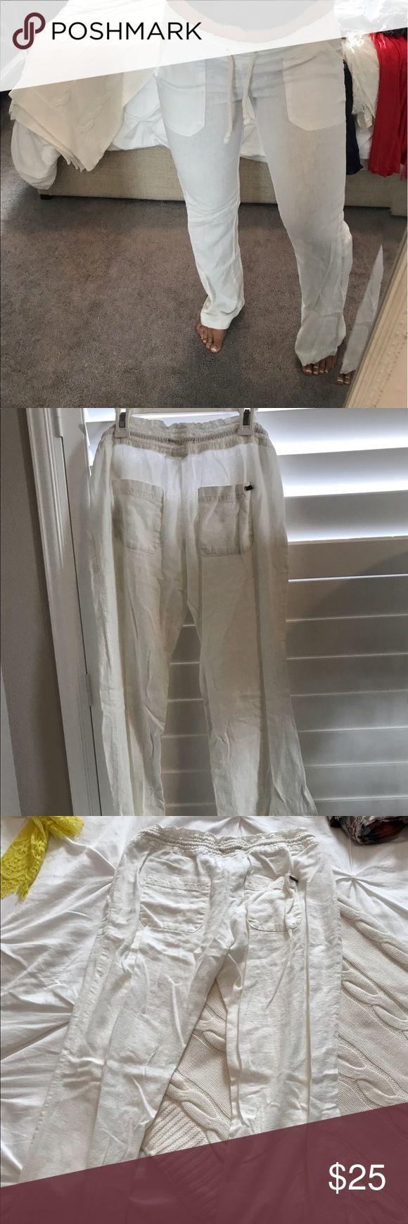 Roxy white beach pants Roxy white beach pants Pants Wide Leg