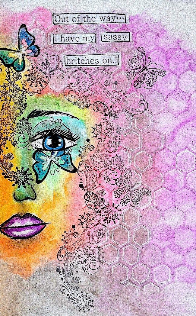 ART JOURNAL PAGE | SASSY | Nika In Wonderland Art Journaling and Mixed Media Tutorials