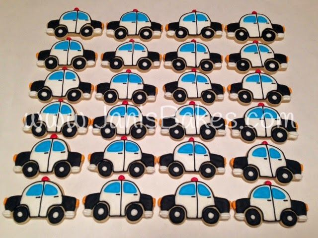 Janis Bakes:  police car decorated cookies