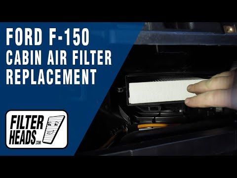 How To Replace Cabin Air Filter 2019 Ford F 150 In 2021 Cabin Air Filter Air Filter Ford F150