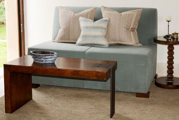 Iron Leg Coffee Table and Loveseat - contemporary - living room - chicago - Woodland Furniture