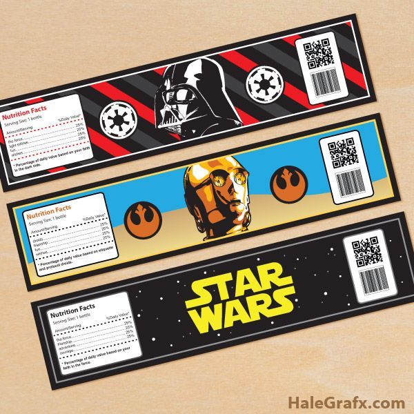 Click here to download FREE Printable Star Wars Water Bottle Labels!