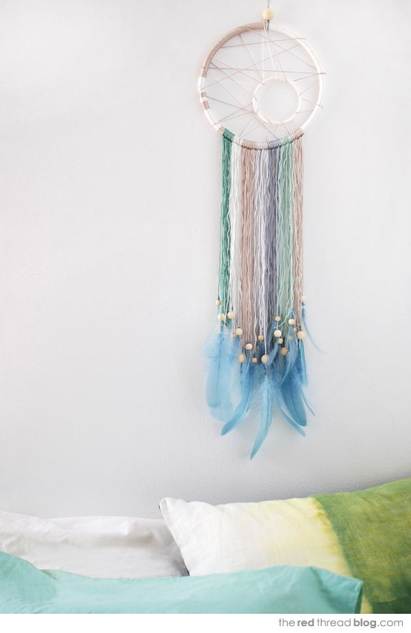TUTORIAL :: Make a modern dream catcher - via the red thread