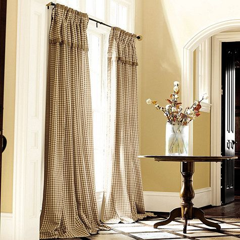 Dining Room Addition French Pleated Check Draperies CurtainsDrapes