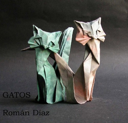 Origami cats ....... Auch I am in love with those!!!