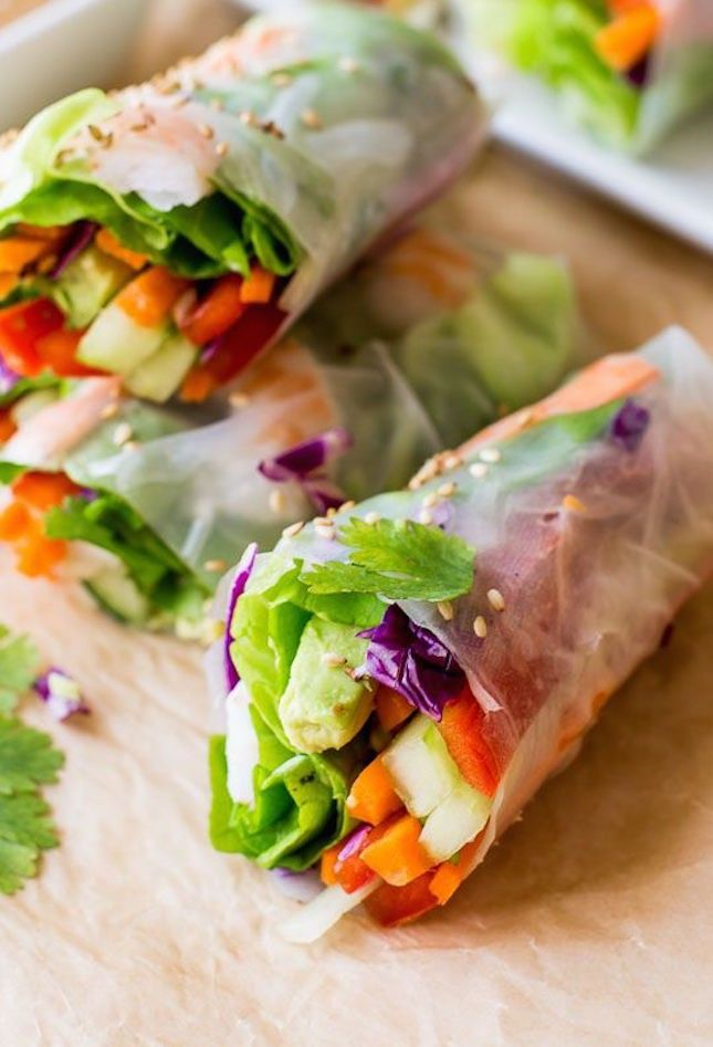 10 Tasty Plant-Based Snacks to Power You Through Your Day :: Fresh Summer Rolls