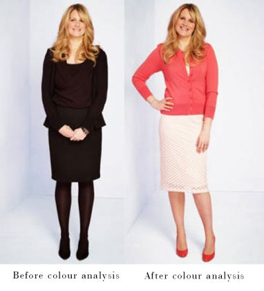 before_and_after. Look how black does not suit everybody and how it actually makes her look fatter!