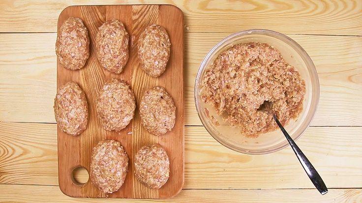 Куриные котлеты с овсяными хлопьями - Рецепты от Со Вкусом
