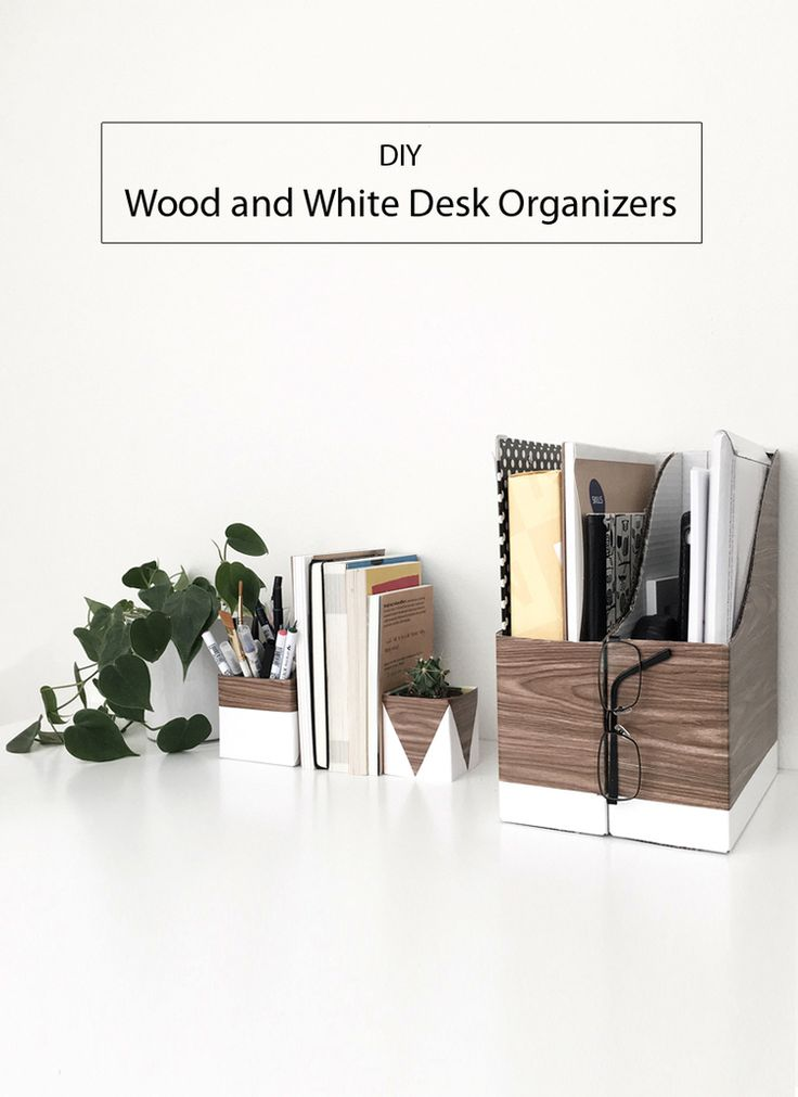 17 best images about diy projects for you your home on - White wood desk organizer ...
