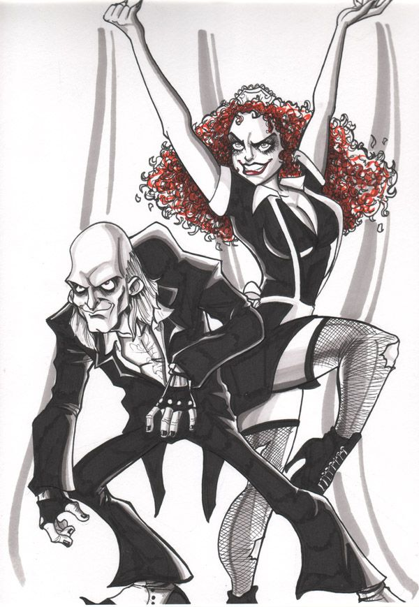 Part two of a commissioned Christmas gift. Riff Raff and Magenta from Rocky Horror picture show.