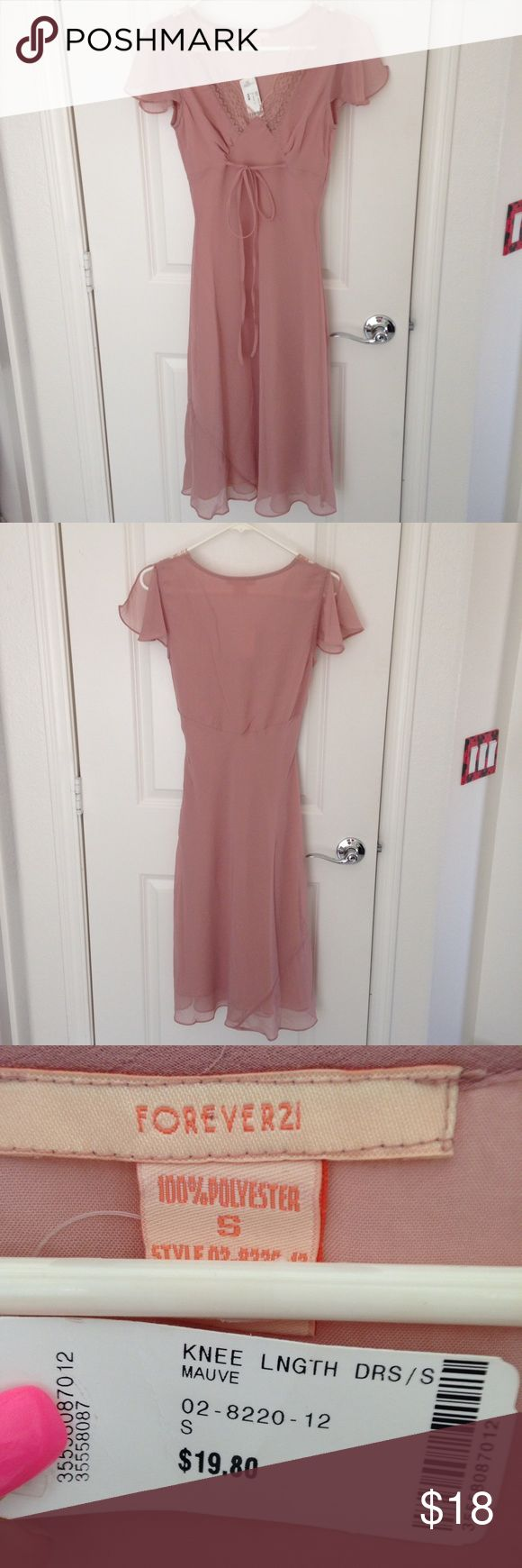 NWT Forever 21 Dusty Rose Dress Size XS NWT Forever 21 Dusty Rose dress. Size extra small. It has flutter sleeves is very lightweight and is absolutely gorgeous. It drops just past the knees. Please ask any questions no trades. Thank you for looking. Forever 21 Dresses Midi