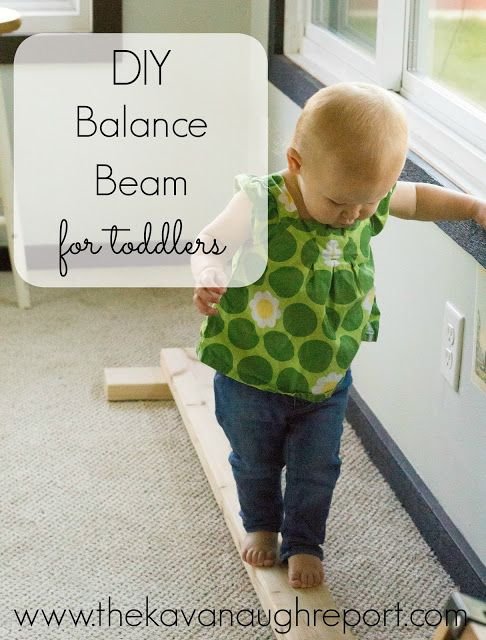 DIY Wooden Balance Beam - easy, simple Montessori friendly indoor gross motor play for toddlers and preschoolers