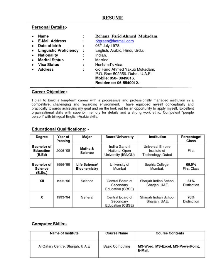Pin by suzsanna perieteanu on neha teaching resume