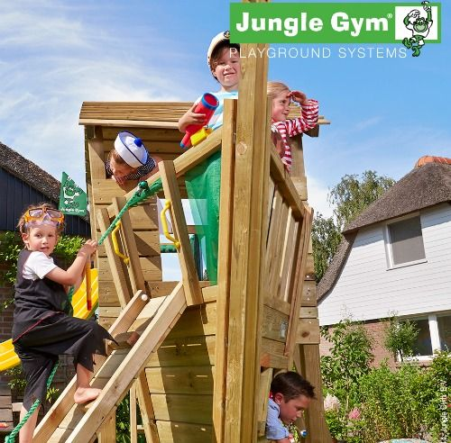 NEW Jungle Gym Boat Module - Wooden Climbing Frames for Children Ships Ahoy!!
