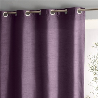 Silk Effect Curtain With Eyelets Pearl Grey+Grey+Light Purple Lilac+Mauve