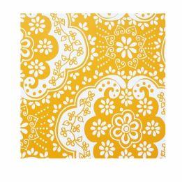 Room seven behang dentelle geel (ook bij de mooiste muren)