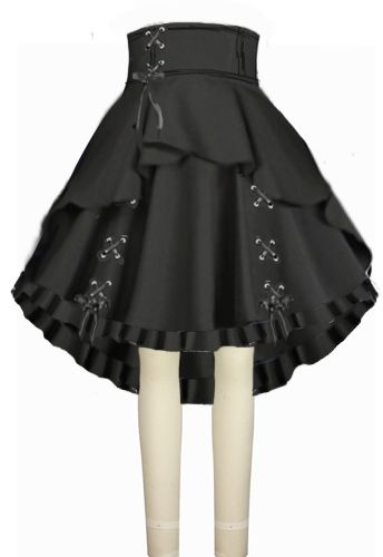 Victorian High Low Pull up Skirt ChicStar