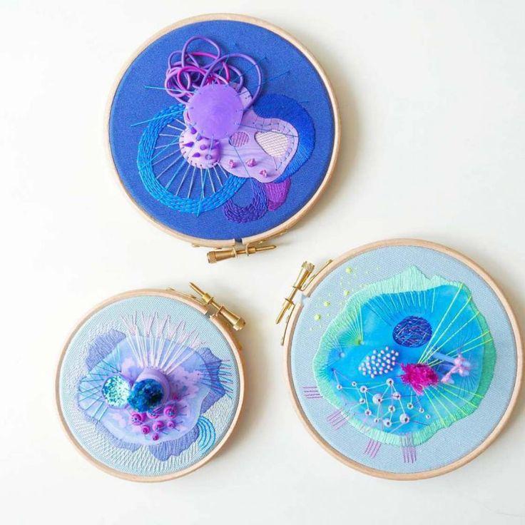 3 Boyutlu Soyut Nakışlar  #3D #embroidery