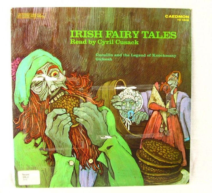 Irish Fairy Tales LP Record Album Cyril Cusack Cucullin & Knockmany Guleesh  #FairyTale