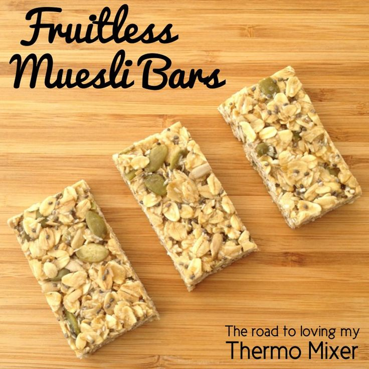fruitless muesli bars
