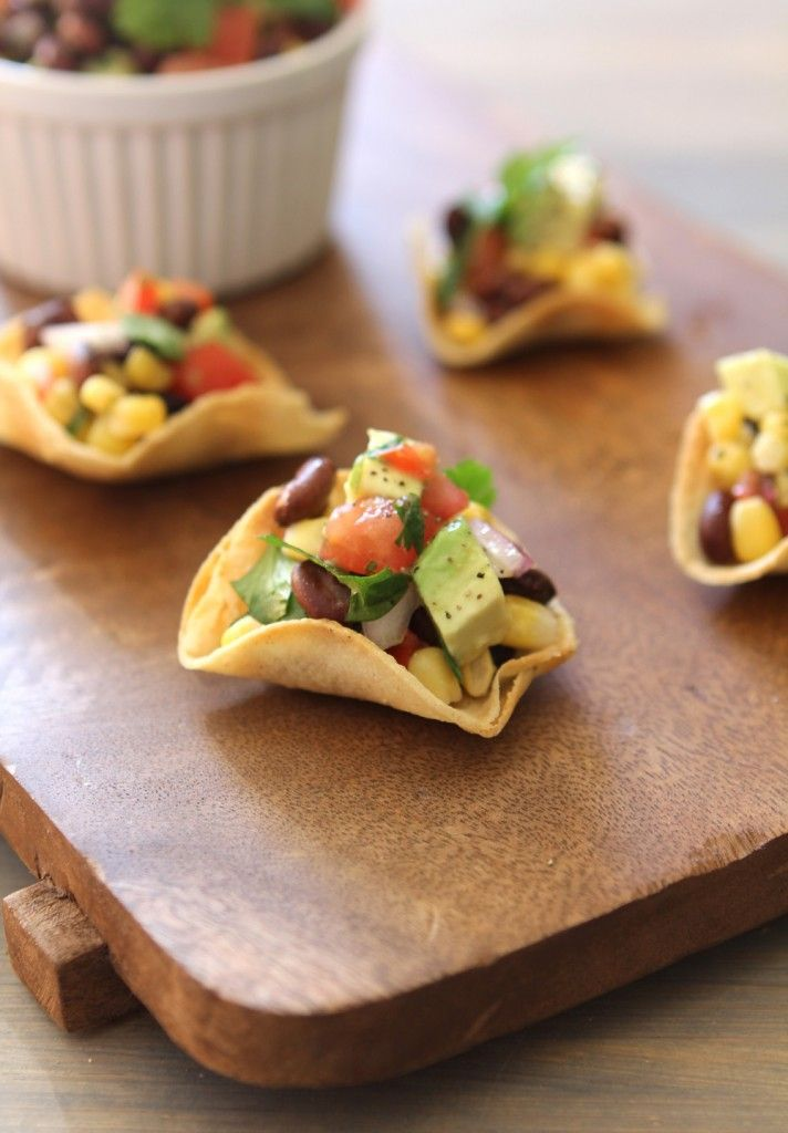 ... salsa creamy black bean red pepper and corn salad with avocado and