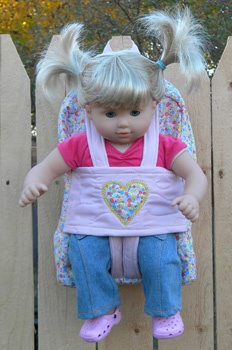 Baby Carrier For Dolls Pattern Sewing Patterns For Baby