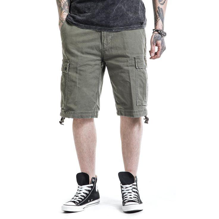 "Pantaloncini ""Vintage Shorts"" della collezione Black Premium by EMP in stile Vintage."