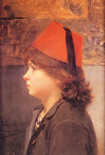 EL NIÑO DEL FEZ O EL TURQUITO, 1890 Óleo sobre tela 28 x 20 cm Museo Nacional de Bellas Artes