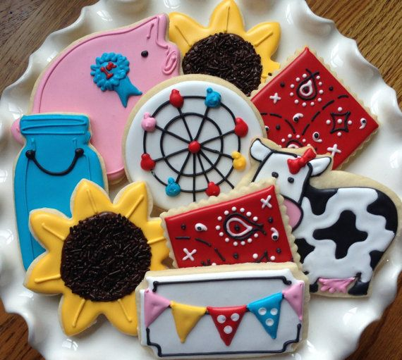Going to the County Fair Sugar Cookie by NotBettyCookies on Etsy