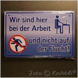 #Metall #Schild 12,5x19 cm #Prägung #Spruch 02 #metallschild #funschild - jetzt bei #Knibbli auf Knibbli.com