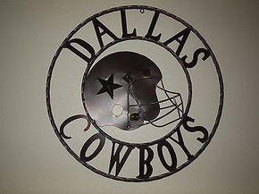 "24"" DALLAS COWBOYS DECOR METAL ART WESTERN HOME WALL DECOR NEW"
