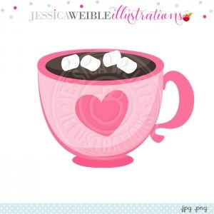 Pink Heart Hot Cocoa Cup