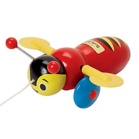 Buzzy Bee Wooden Pull Along Preschool Toys Toys The