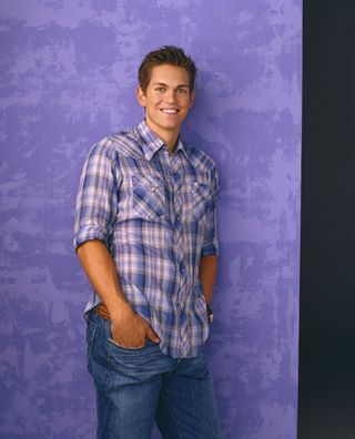 """Steve Howey from Reba. He was so dang cute! Why'd he get old and go for the biker look? :""""("""