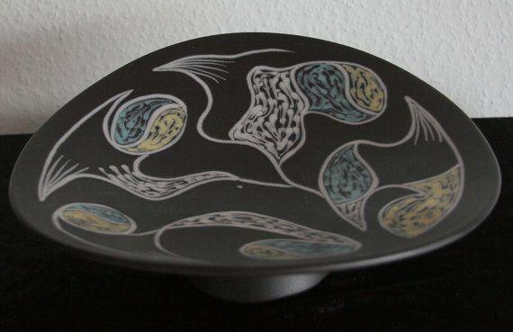 RARE Søholm BURGUNDIA Centrepiece Holm Sørensen 10cm and 30cm in diameter