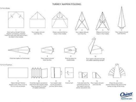 Napkin Folding Instructions Creative Napkin Folds For