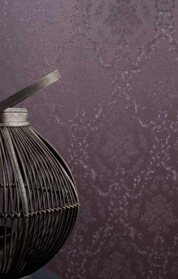 Rasch Textil Lila Silber Ornament Muster Vliestapete Wohnzimmer Schlafzimmer Stil Fabrik Christoph