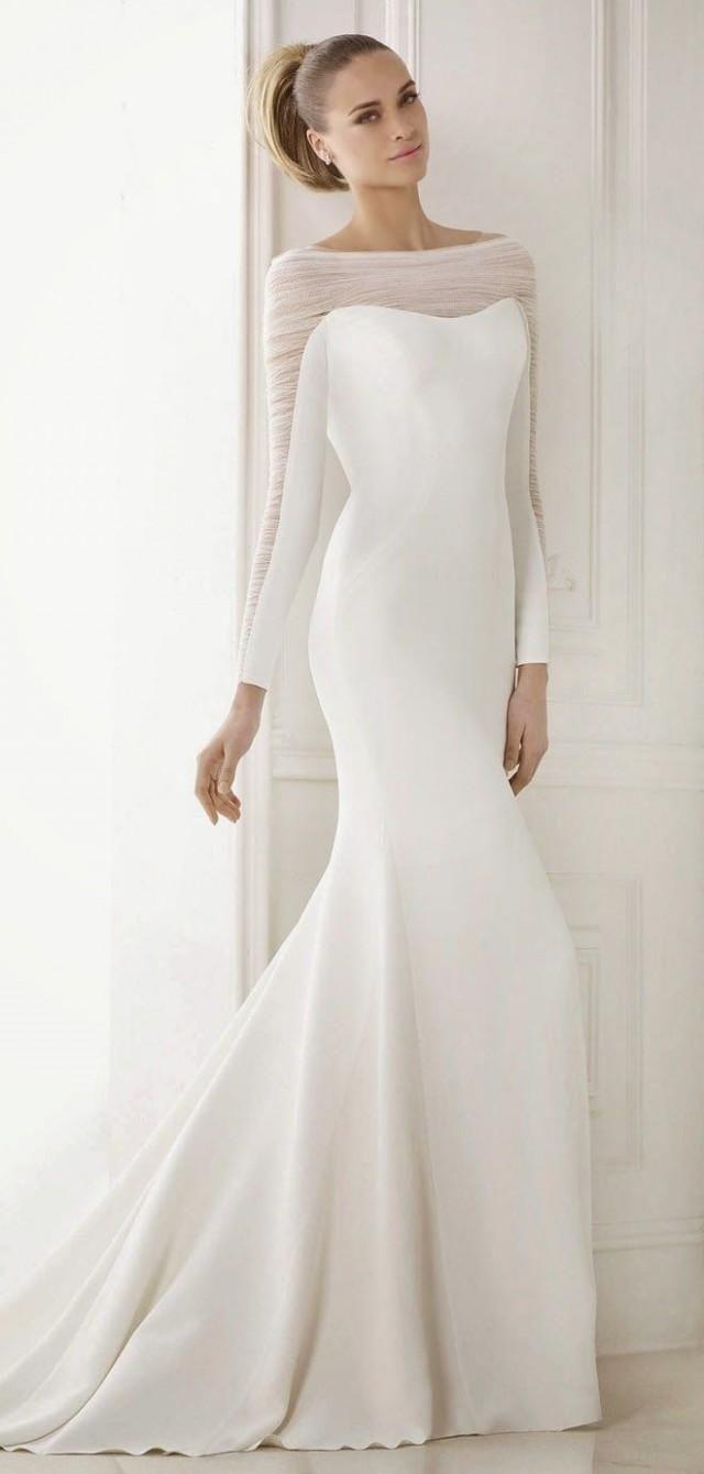Pronovias 2015 Bridal Collections – Fashion Style Magazine longsleeved