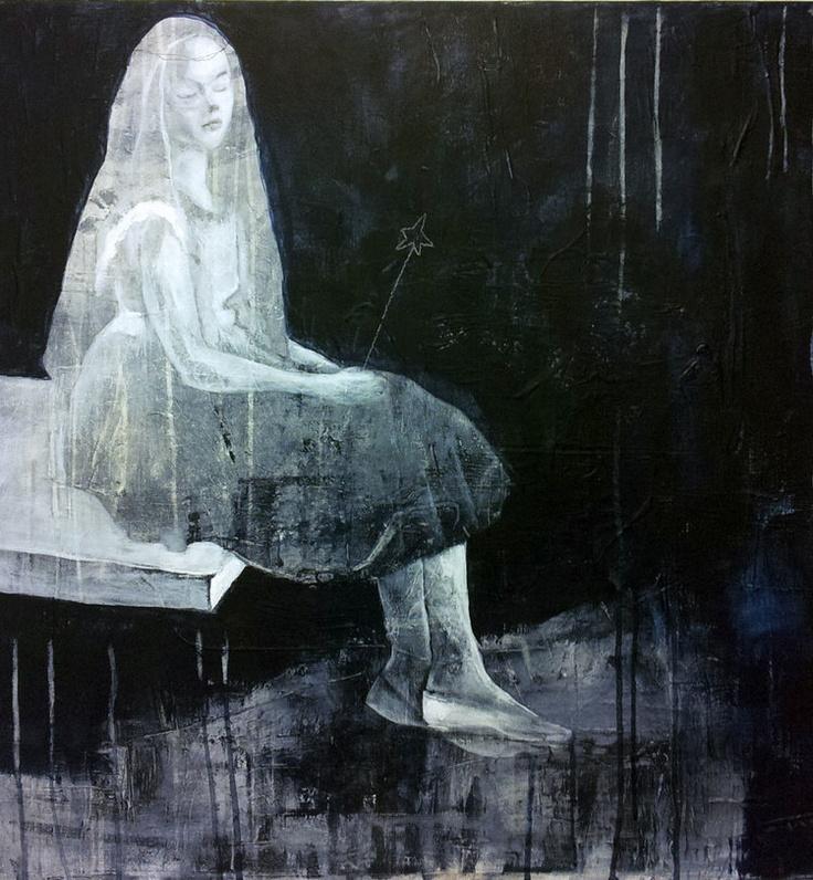 TANKER PÅ KANTEN AV STUPEBRETT BY ANNE-BRITT KRISTIANSEN  #fineart #art #painting #kunst #maleri #bilde  https://annebrittkristiansen.com/paintings/2013/