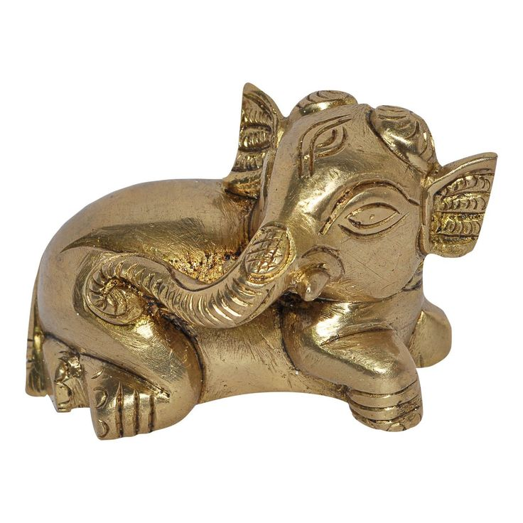 Little Ganesha Statue Brass Sculpture: Amazon.co.uk: Kitchen & Home