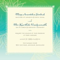 Wedding cards Lotus Tapestry Minty Teal Wedding