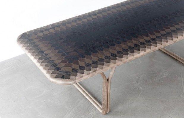 Le studio de design parisien Ymer&Maltas'est associé au designer Benjamin Graindorgeafin de réaliser cette magnifique collection baptisée «Marqueter