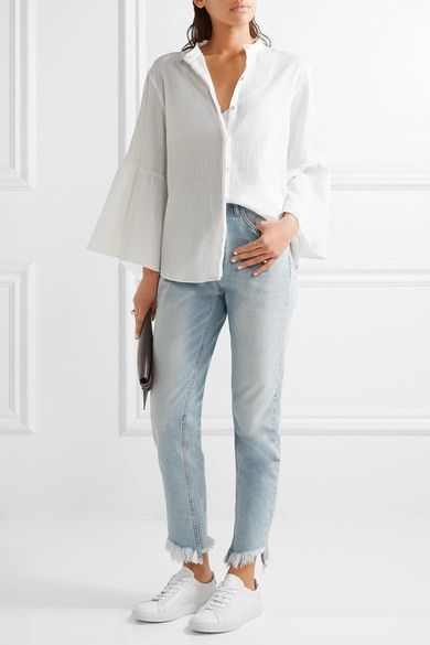 M.i.h Jeans | Goldie cotton-cheesecloth blouse | NET-A-PORTER.COM
