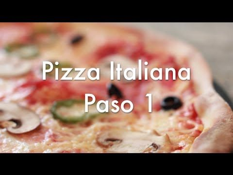 ▶ Pizza Italiana Paso 1 - Receta de masa casera y cómo amasar a mano - YouTube