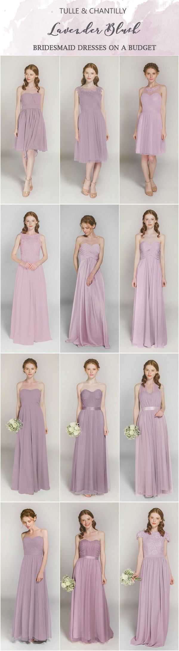 Lavender Blush bridesmaid dresses on a budget