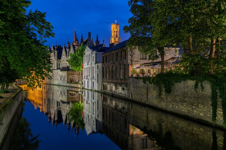 Bruges reflections - Please click on the photo to see it on a black background. Bruges(the Venice of the North) is one of the most well-preserved medieval towns in Europe.The historic centre of Bruges has been a UNESCO World Heritage Site since 2000