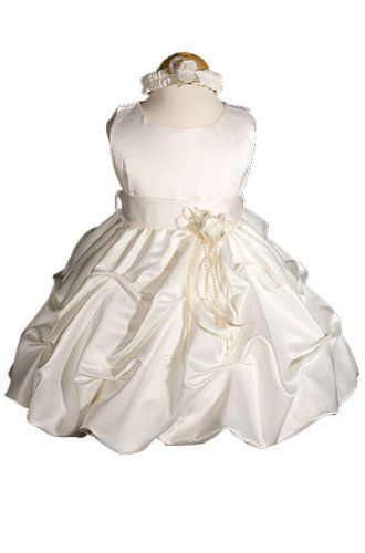 AMJ Dresses Inc Ivory Infant Flower Girl Wedding « Dress Adds Everyday